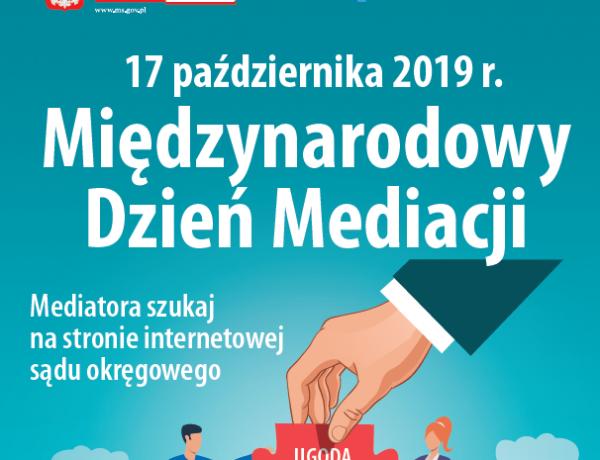 17 października 2019 r. - Międzynarodowy Dzień Mediacji