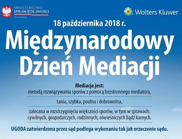 18 października 2018 r. - Międzynarodowy Dzień Mediacji